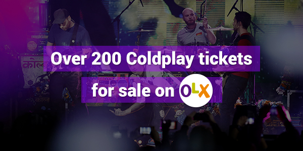 Over 200 Coldplay tickets
