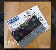 COLDPLAY Live in Manila GOLD ticket